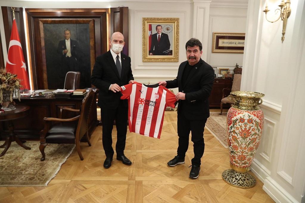As Başkan Ahmet Kuzan, Bakan Süleyman Soylu'yu Ziyaret Etti