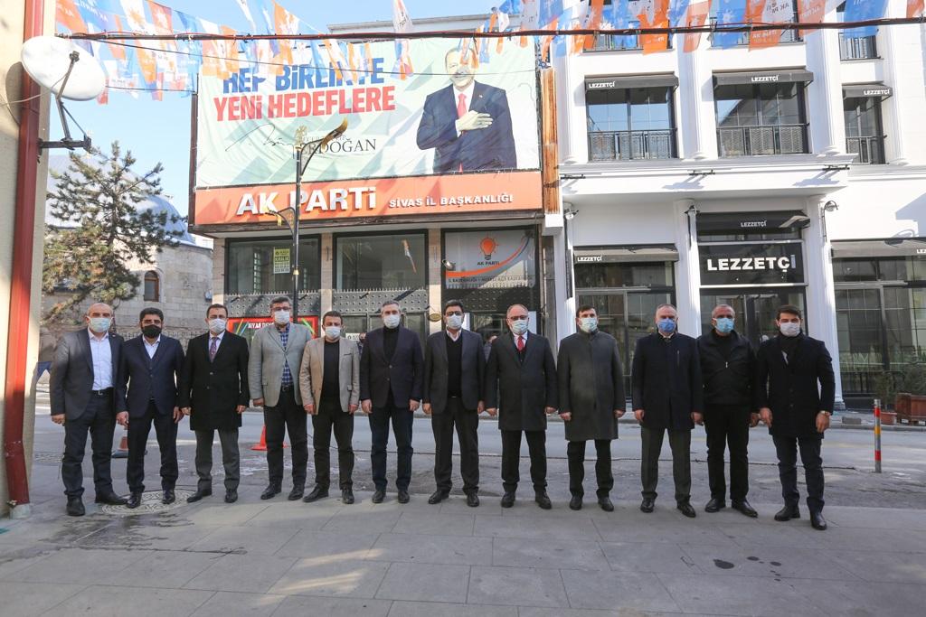 Başkan Bilginden Yeniden Ak Parti İl Başkanı seçilen Hakan Aksu'ya Ziyaret
