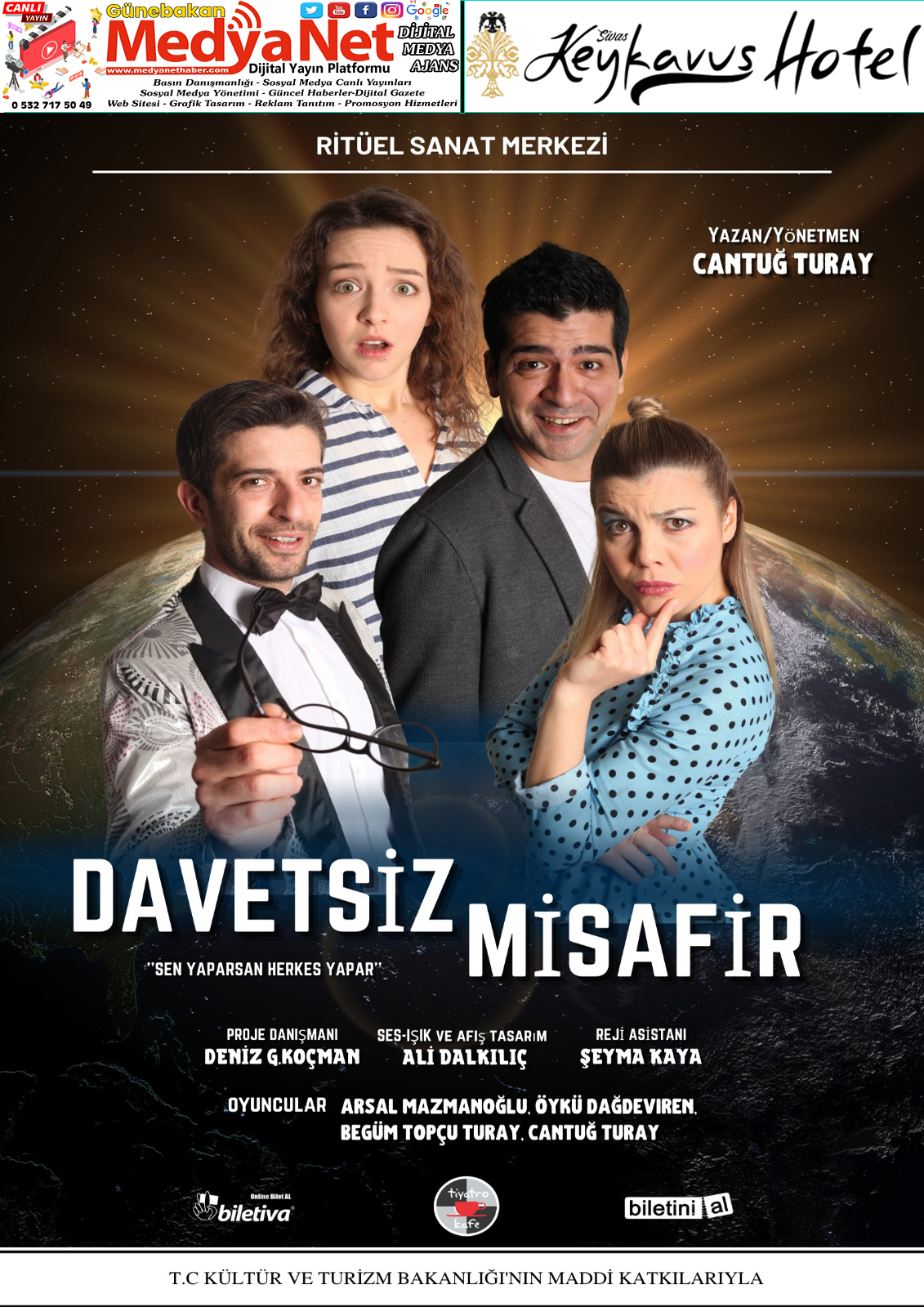 Davetsiz Misafir Tiyatro Oyunu 25 Şubat'ta Sivas'ta