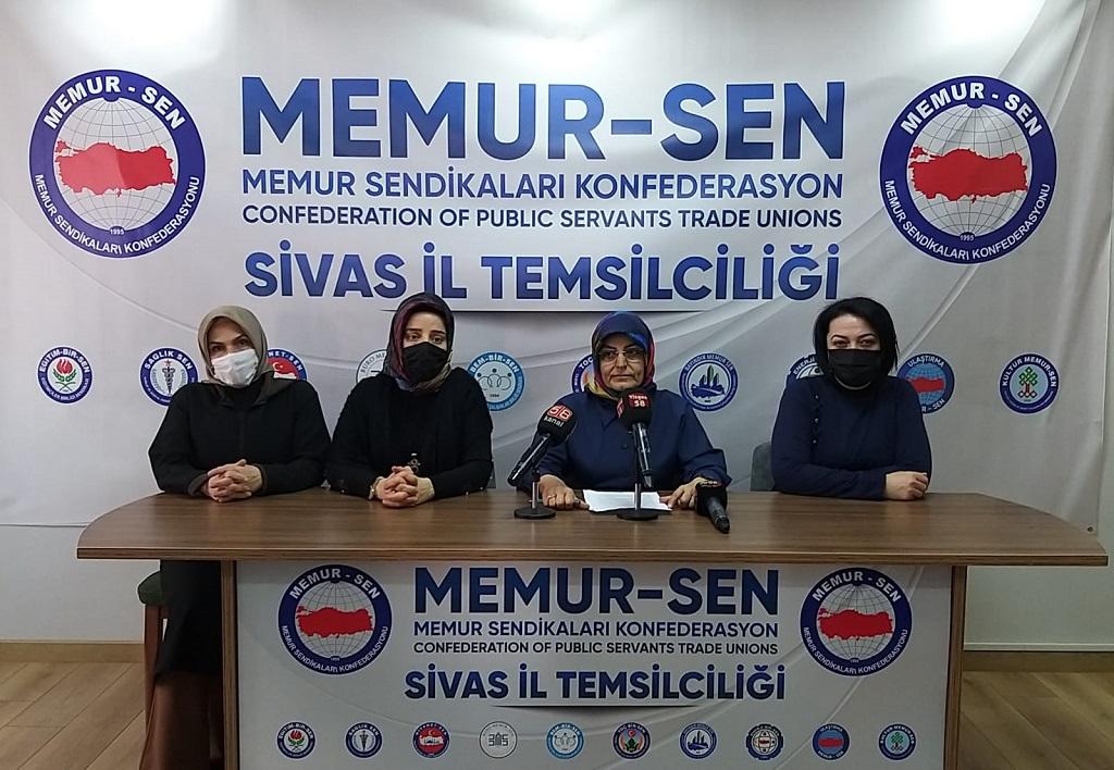 """Sivas Memur-Sen Kadın Komisyonu Başkanı Güner Türker """"Mağfurlar Görülmeli Hakları Ödenmeli"""""""