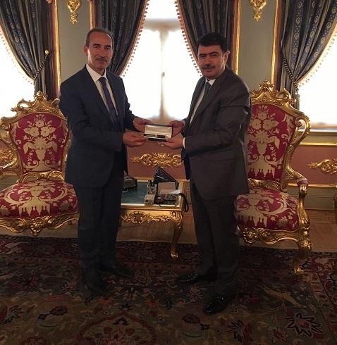Rektör Yıldız İstanbul Valisi Vasif Şahini ziyaret etti