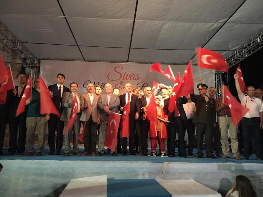Sivas'ta Demokrasi Şehitleri Mitingi yapıldı