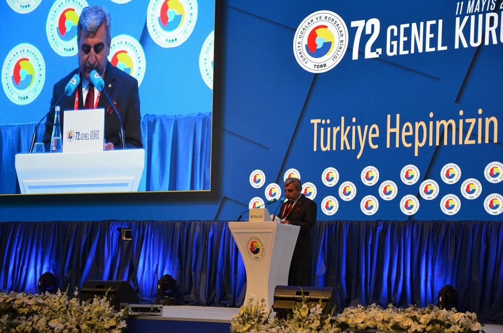 TOBB 72. GENEL KURULUNDA VERGİ KOMİSYONU RAPORU AÇIKLANDI.