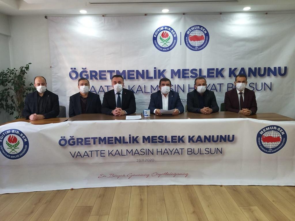 """Halil İbrahim Temiz""""Öğretmenlik Meslek Kanunu vaatte kalmasın, hayat bulsun"""""""