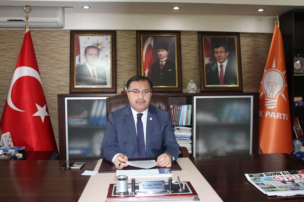 Ak Parti İl Başkanı Av. Ziya Şahin, 22Mayıs tarihinde yapılacak olan 2. Olağanüstü Büyük Kongre'ye Sivas halkını davet etti.