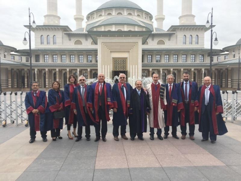 CÜ Rektörü Alim Yıldız ve ekibi Külliyede düzenlenen akademik yılı açılış törenine katıldı