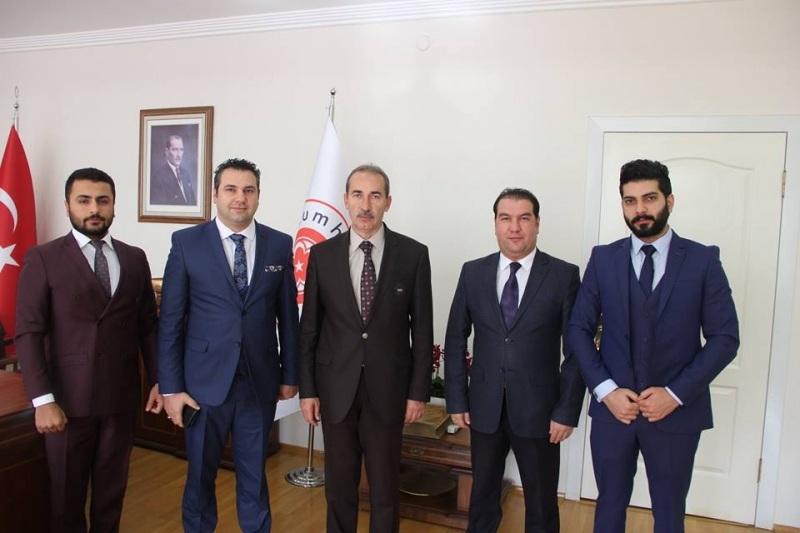 SEMDER yönetimi Rektör Alim Yıldız'ı ziyaret etti
