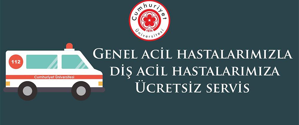 Cumhuriyet Üniversitesi hastanesinde hastalara  Üniversitetarafından Özel Uygulama Başlıyor